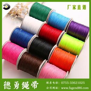 热卖1.0/1.2/1.5mm打蜡绳环保编彩色韩国进口