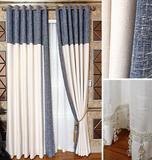 定制卧室客厅窗帘 遮光棉麻亚麻布料现代简约