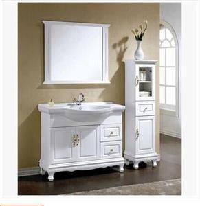 九牧卫浴九牧浴室柜 欧式落地浴室柜 洗手盆实木橡木柜组合