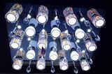 博通灯饰 客厅房间卧室餐厅水晶灯圆形吸顶灯LED