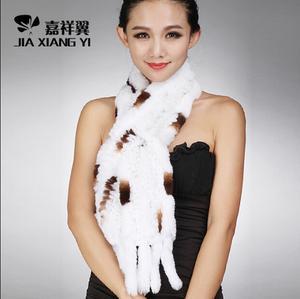 冬季新款皮草围脖獭兔毛围脖兔毛围巾女加长保暖舒适