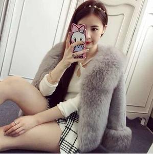 冬季新款 时尚仿狐狸毛皮草外套