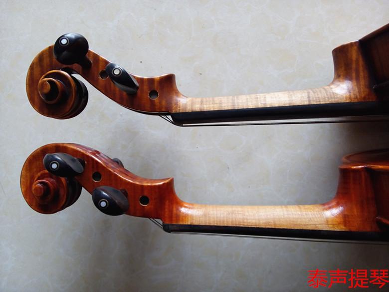 纯手工制作 纯乌木配制 高档琴弦琴码 小提琴图片