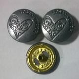 四合钮扣 工字扣 牛仔扣  四合底三件 金属钮扣
