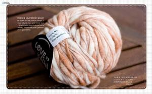 1.1NM 含羊毛、尼龙成分喷毛纱、大肚纱