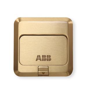 ABB 五孔全铜地插