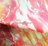 2015新款轻薄羽绒服棉衣泼墨印花面料尼丝纺