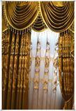 高档半遮光绣花边厂家直销客厅卧室雪尼尔成品布