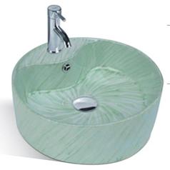 绿木纹艺术盆