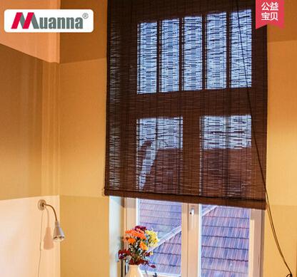 竹帘窗帘卷帘隔断拉绳客厅阳台遮阳防蚊门帘