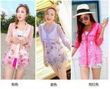 欧韩女装欧根纱时尚百搭印花防紫外线超薄外套