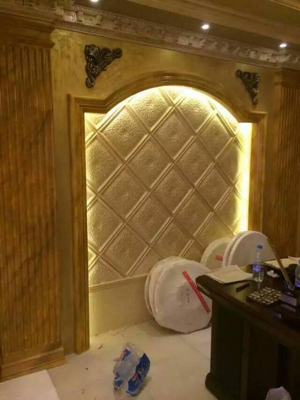 石膏电视背景墙条纹雕花造型墙壁花各种石膏制品
