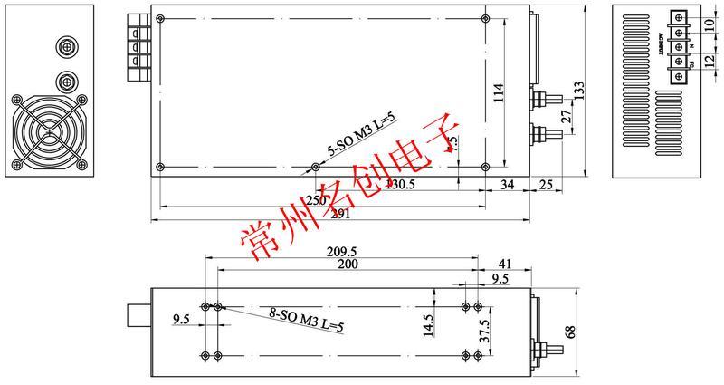 24v转12v电源变压器dc12v750w降压电源
