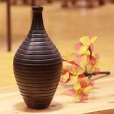 泰国装饰品木质花瓶N059