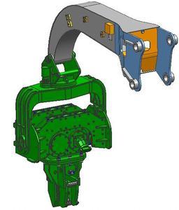 柴油锤桩机 步履式打桩机,液压冲击锤 挖掘机机械手图片