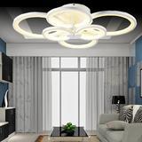 LED时尚简约吸顶灯圆圈带遥控无极创意客厅吸顶灯