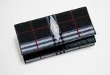 泰国珍珠鱼皮黑白格纹手抓包