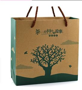 牛皮纸 通用 茶叶手提袋 纸袋 茶叶包装图片