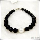 柬埔寨珍珠玛瑙项链 然淡水珍珠手链 圆形强光