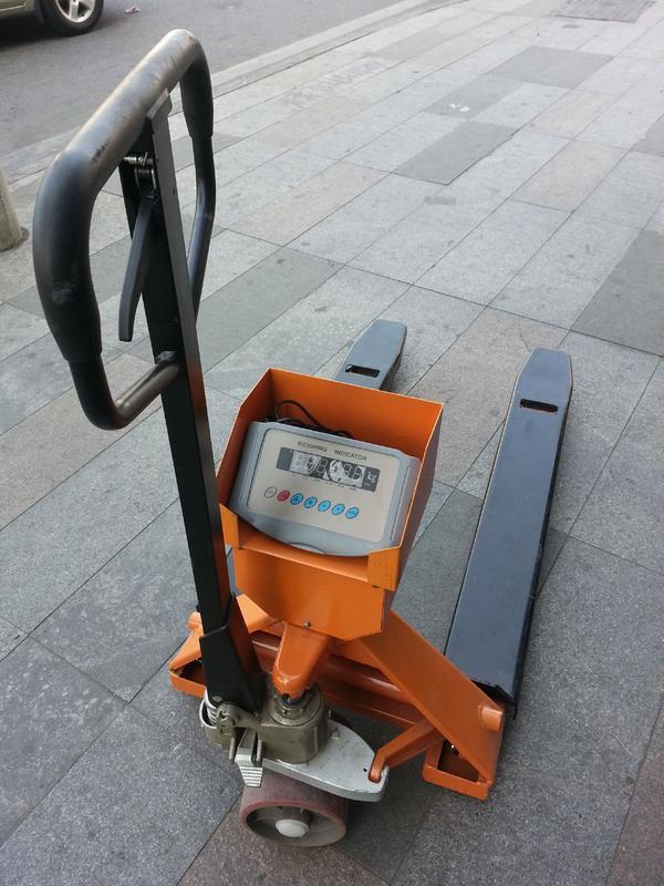 奉化1吨液压叉车电子秤,地牛/地老虎秤图片