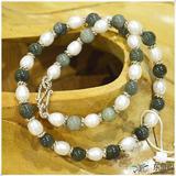 柬埔寨正品  翡翠珍珠项链JE062