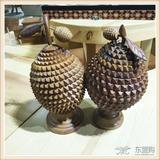 印尼进口木制瓜果饰品 家居装饰品