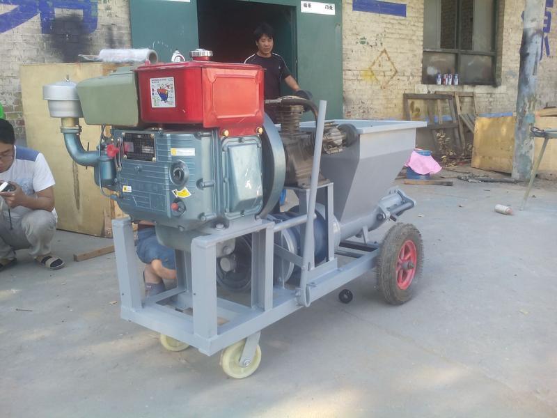 柴油式喷涂机多功能柱塞砂浆喷涂机