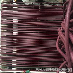 酒红色棉蜡绳