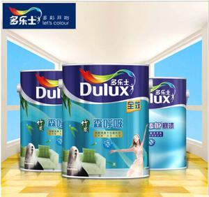 多乐士竹炭森呼吸全效无添加 涂料内墙乳胶漆油漆