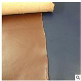 二层植鞣皮 表面贴膜 皮面不爆裂 原色底 内隔内里