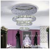 水晶LED餐吊灯批发 客厅卧室时尚创意灯具 另类圆