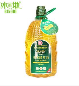 冰地玉米胚芽油非转基因食用油纯正玉米油物理压榨3L
