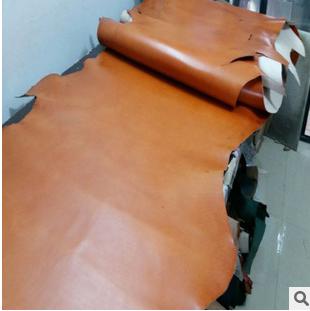 阿根廷进口黄棕色植鞣皮 箱包皮真皮 头层牛皮