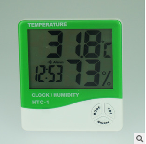 HTC-1 高精度室内电子 温湿度计带时钟