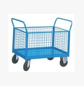 带围框护栏平板车、网架式平板手推车、网架车、工具车