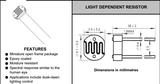供应直径4毫米光敏电阻