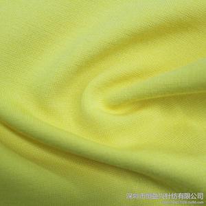 时装针织面料-黄色纯棉单卫衣面料
