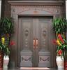 供应高质量铜门别墅门庭院门仿真铜钢复合门
