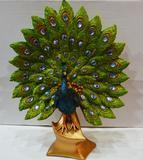 高档家居工艺品创意结婚礼物 孔雀开屏装饰品 客厅电