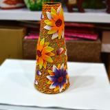 生日结婚礼物礼品 手绘彩陶陶瓷假花花器 家居饰品软