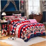 法兰绒四件套床笠床单法莱绒4件套1.8米2m床套件