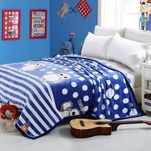 美奈尔秋冬休闲盖毯空调房毛毯被防静电法莱绒毯