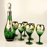 DH 珐琅玻璃水晶葡萄酒红酒杯装饰品工艺品礼盒套装