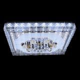 家家照明 长方形大气水晶灯客厅灯led简约顶灯具