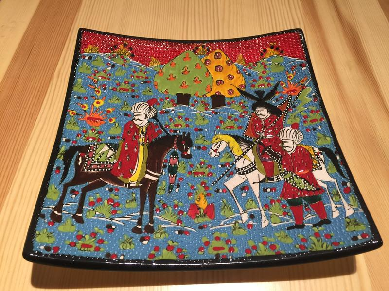 土耳其手工方形瓷盘X221大图一