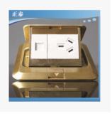 CHINT正泰开关插座NED1纯铜地板插座 三插1