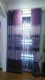 雪尼尔搂空绣花紫布