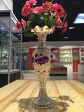 俄罗斯进口工艺品 珐琅花瓶 工艺品 家居装饰