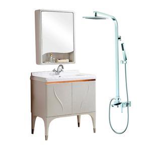 埃美柯 浴室柜 9914+全铜顶喷 方管淋浴