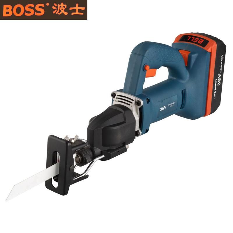 BOSS新品电动工具36V无刷充电式往复锯刀马锯大图一